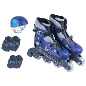 PATINS IN-LINE AJUSTAVEL COM ACES.AZUL 34/37